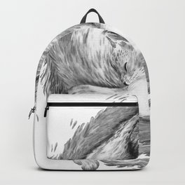 Cat Nap Curl Up Circle, Black and White Backpack