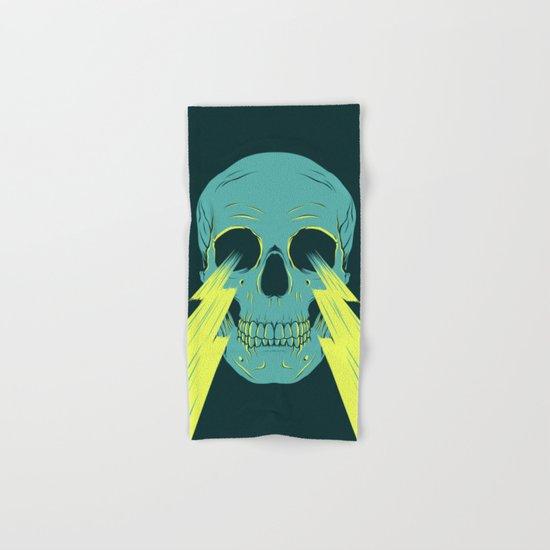 Lightning Skull Hand & Bath Towel