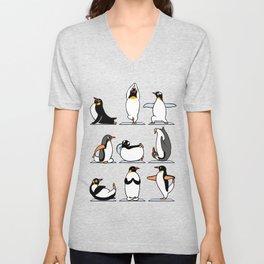 Penguin Yoga Unisex V-Neck
