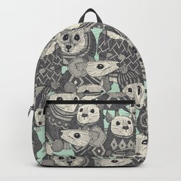 sweater mice mint Backpack
