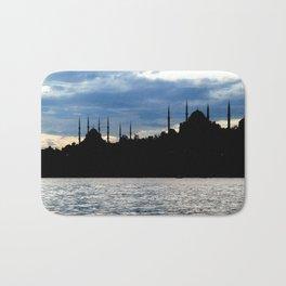 Sultanahmet Camii Skyline Istanbul Turkey Bath Mat