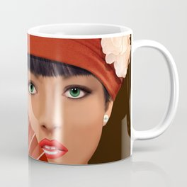 The beautiful lady with green eyes Coffee Mug