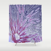 ice Shower Curtains featuring ice by donphil