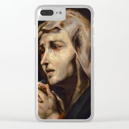 "Théodore Géricault ""Mater dolorosa, copy after Ribera"" Clear iPhone Case"