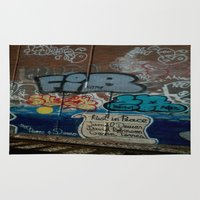grafitti Area & Throw Rugs featuring Grafitti Art by Lisa De Rosa-Essence of Life Photography