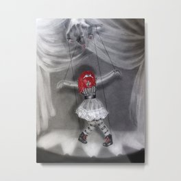 All Strung Up; Human Marionette Metal Print