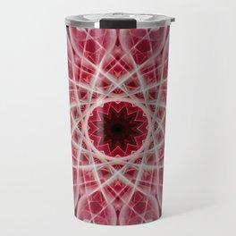 Ornamented mandala in red and pink tones Travel Mug