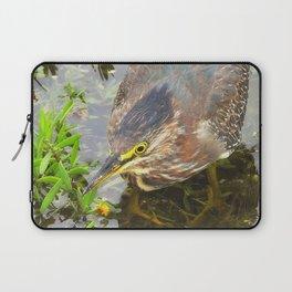 Young Green Heron Laptop Sleeve