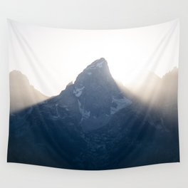 grand teton mountains sunset Wall Tapestry
