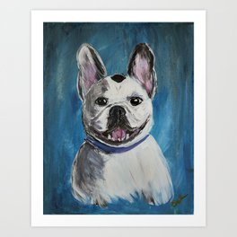 Happy Frenchie Art Print