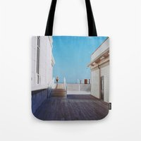 boardwalk empire Tote Bags featuring Boardwalk by marisa ann
