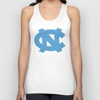 north carolina Tank Tops featuring NCAA - North Carolina Tarheels by Katieb1013