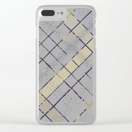 Retro pastel plaid pattern N7 Clear iPhone Case