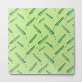 Banana leaves pattern green Metal Print