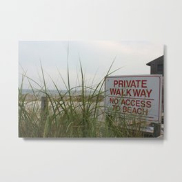 Private Walkway Metal Print