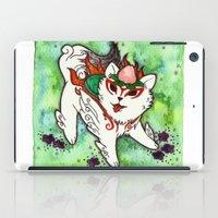 okami iPad Cases featuring Amaterasu from Okami 01 by Jazmine Phillips
