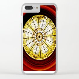 Stained Glass Rotunda Clear iPhone Case