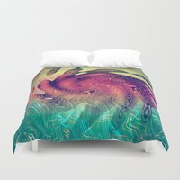 underwater Duvet Covers featuring Underwater by GypsYonic