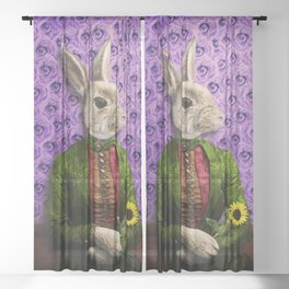 Miss Bunny Lapin in Repose Sheer Curtain