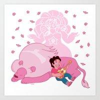 steven universe Art Prints featuring Steven Universe by Vivian Lindemberg Arcila