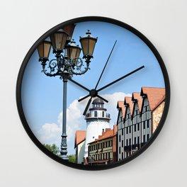 Place Fishing Village ethnographic Kaliningrad Wall Clock