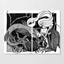 water zodiak Canvas Print