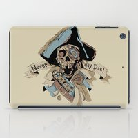 the goonies iPad Cases featuring One Eyed Willy Never Say Die - The Goonies by MarcoMellark