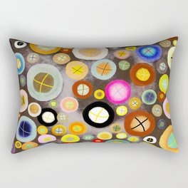 The incident - Circles pale vintage cross Rectangular Pillow