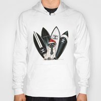 karl lagerfeld Hoodies featuring Santa Pug Lagerfeld  by LATIN for GLORY