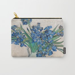 "Vincent Van Gogh ""Vase with Irises"" 1890 Carry-All Pouch"