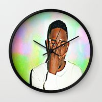 kendrick lamar Wall Clocks featuring Kendrick Lamar by Enna
