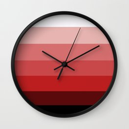 Western Sunset - Color Strips - Colors of Travel Wall Clock