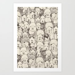 just alpacas natural Art Print