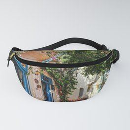 A picturesque cafe of Plaka in Athens, Greece Fanny Pack