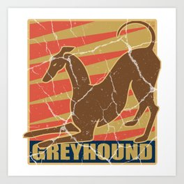 Greyhound dog gift greyhound pet animal Art Print