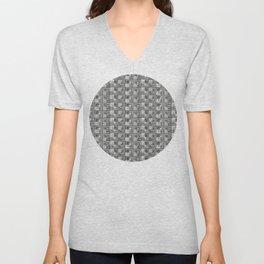 Geometric Optical Illusion Pattern IV - Black Unisex V-Neck