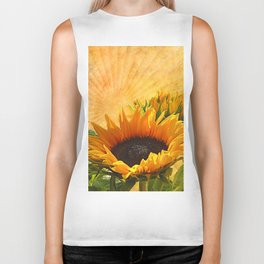 Good Morning Sunflower Biker Tank