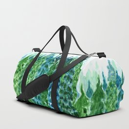 Forest green landscape Duffle Bag