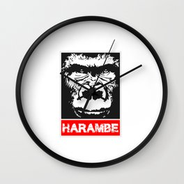 Remember Harambe Wall Clock