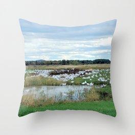 1001 Snow Geese Throw Pillow