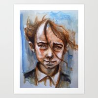 anxiety Art Prints featuring Anxiety by David Castillo