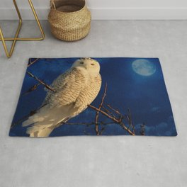 The owl and mystical moon Rug