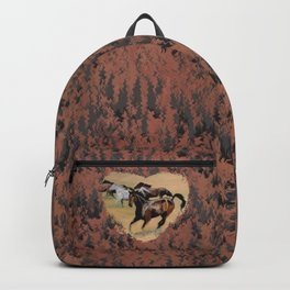 Horse and Western Theme Backpack