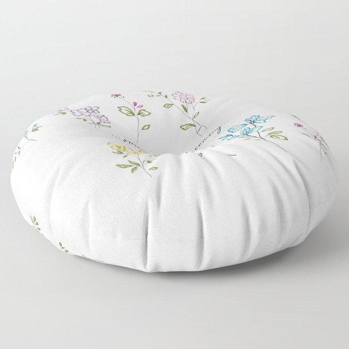 springsummer is coming Floor Pillow