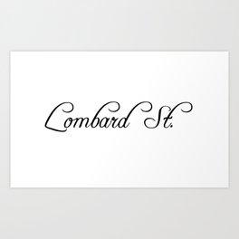 Lombard Street Art Print