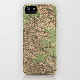Vintage Map of The Grand Canyon (1926) iPhone Case