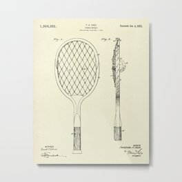 Tennis Racket-1921 Metal Print