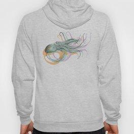 Hand Drawn Nautical Octopus Print Hoody