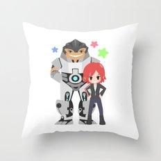 Mass Effect - Grunt and Shepard Throw Pillow