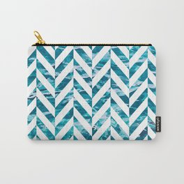 Watercolor Herringbone Carry-All Pouch